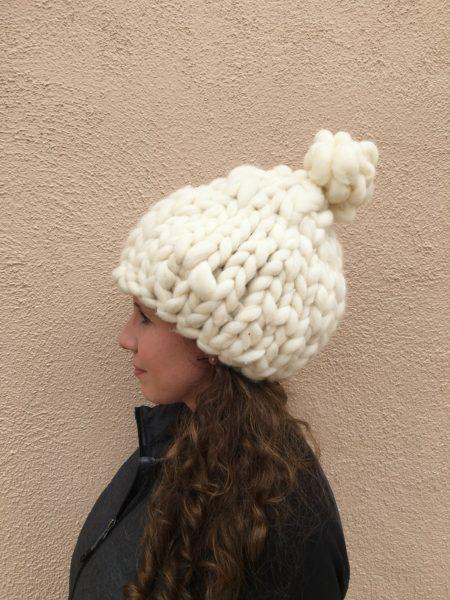 набор пряжи для вязания шапки